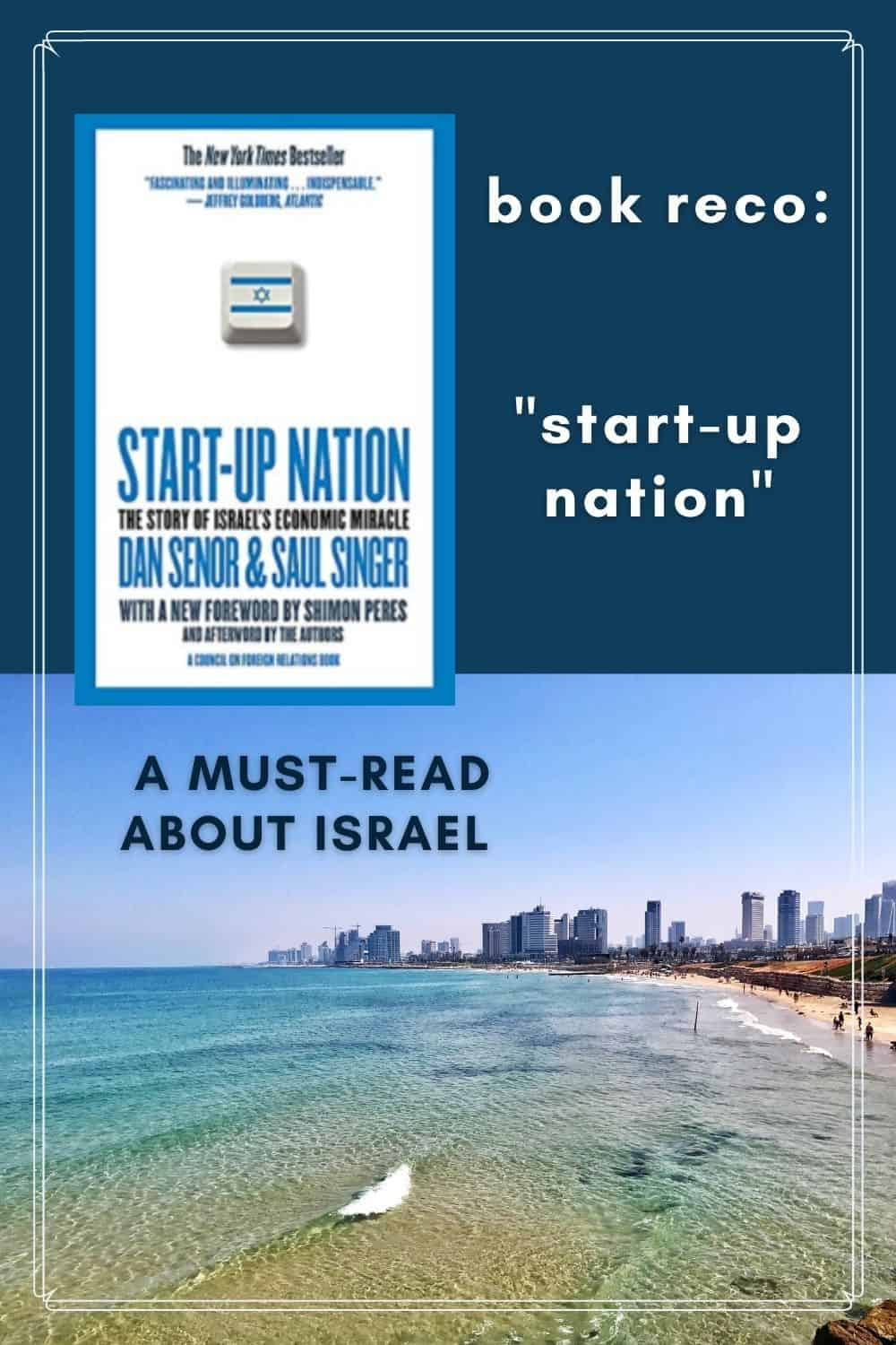 """Book Recommendation on Israel """"Start-Up Nation"""" 