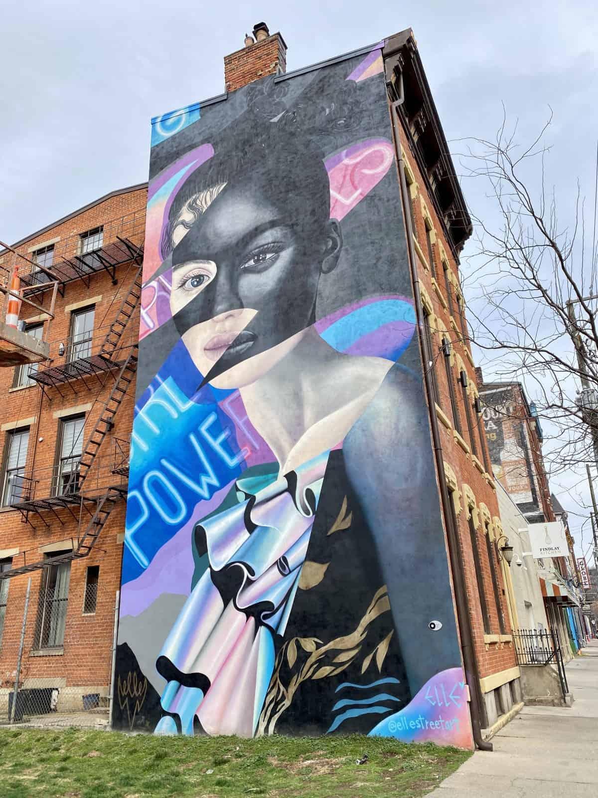 Exploring murals in Cincinnati - street art in the Findlay Market area of OTR