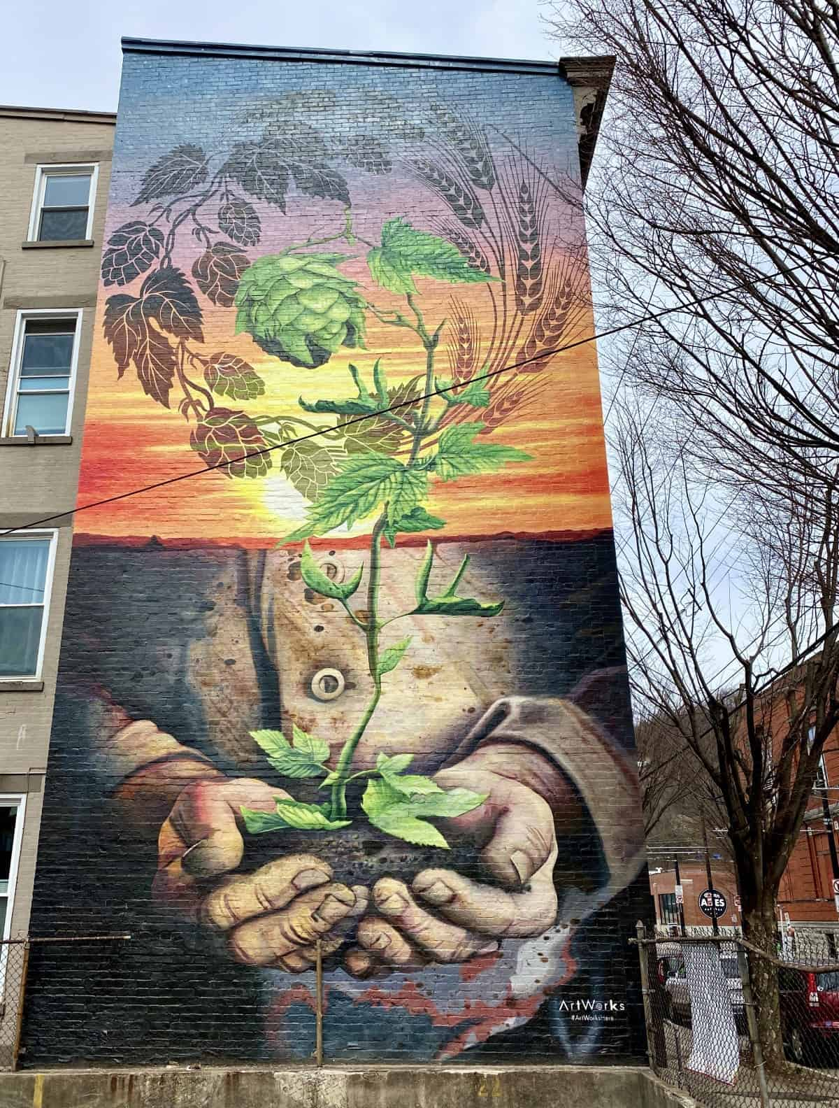 The Brewery District in OTR has some great examples of murals in Cincinnati