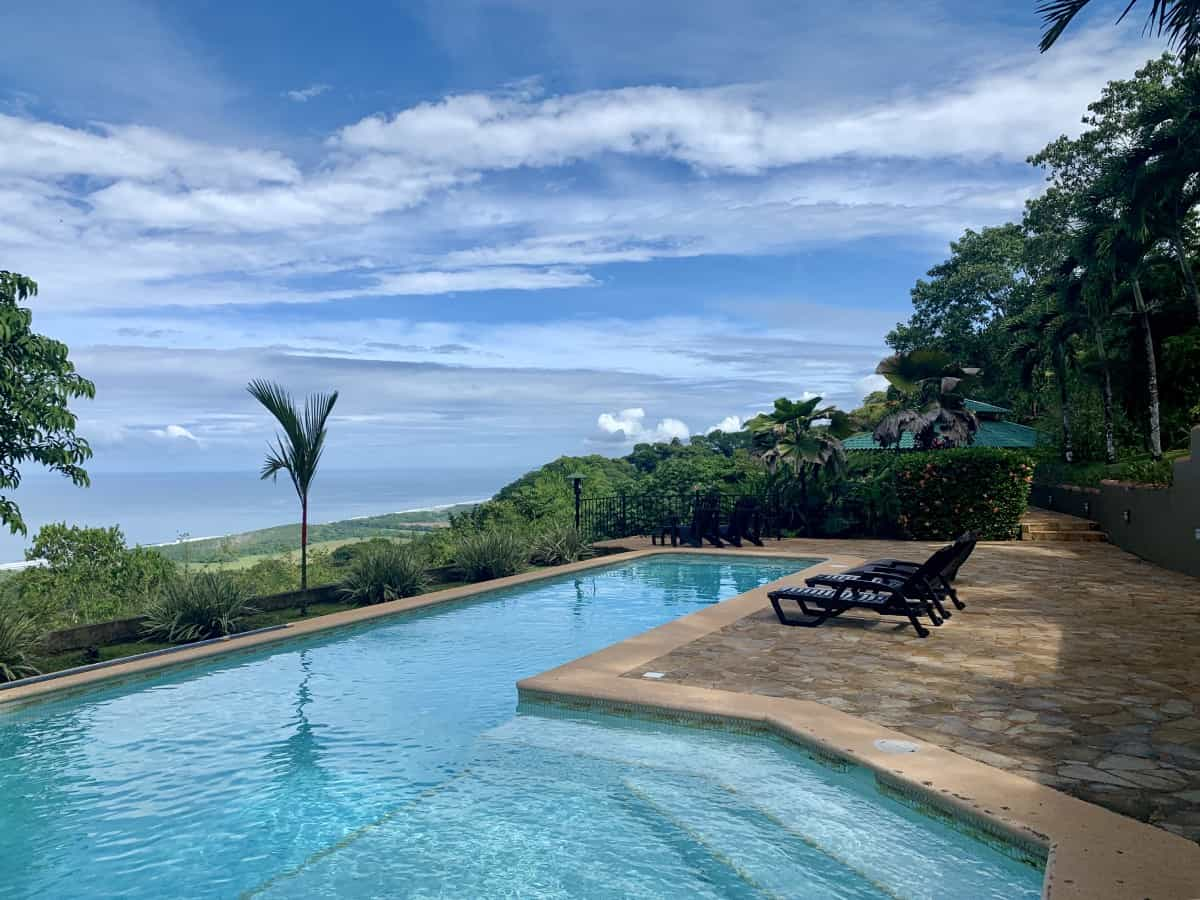 The view from our amazing villa in Dominical, Costa Rica