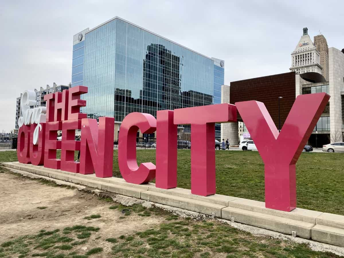 Things to do in Cincinnati on a weekend trip - enjoy the riverfront on a pretty day