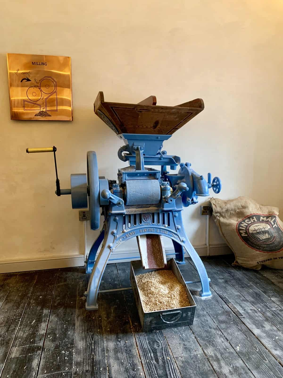 Try your hand at the barley mill at Slane Distillery