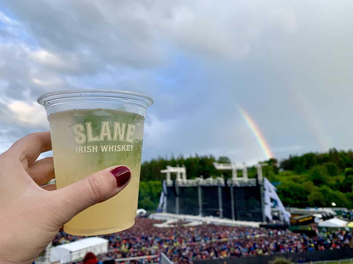 Epic double rainbow at the Slane Castle concert