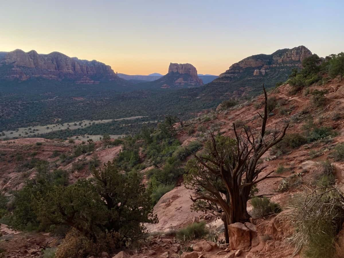 What It's Like Hiking Sedona's Cathedral Rock at Sunrise   How to plan your trip...this iconic & challenging hike is stunning any time of day, but sunrise is particularly magical   One Girl, Whole World