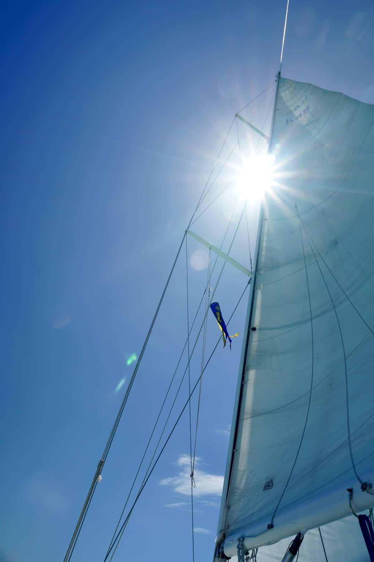 Sun & blue skies aboard the Halia - about my open-water sailing Key West to Dry Tortugas