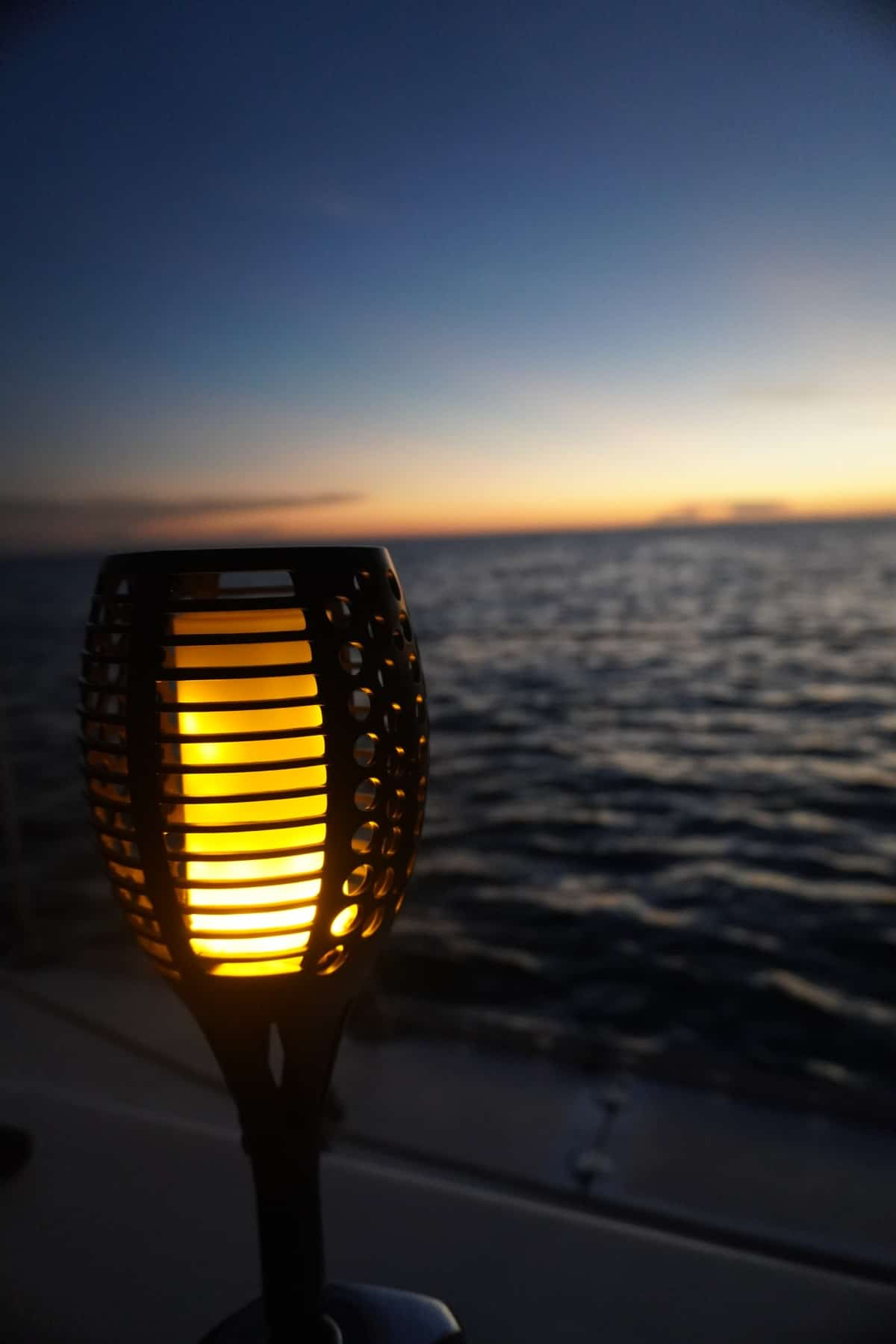Sunset aboard a sailboat is so special - open-water sailing Key West to Dry Tortugas