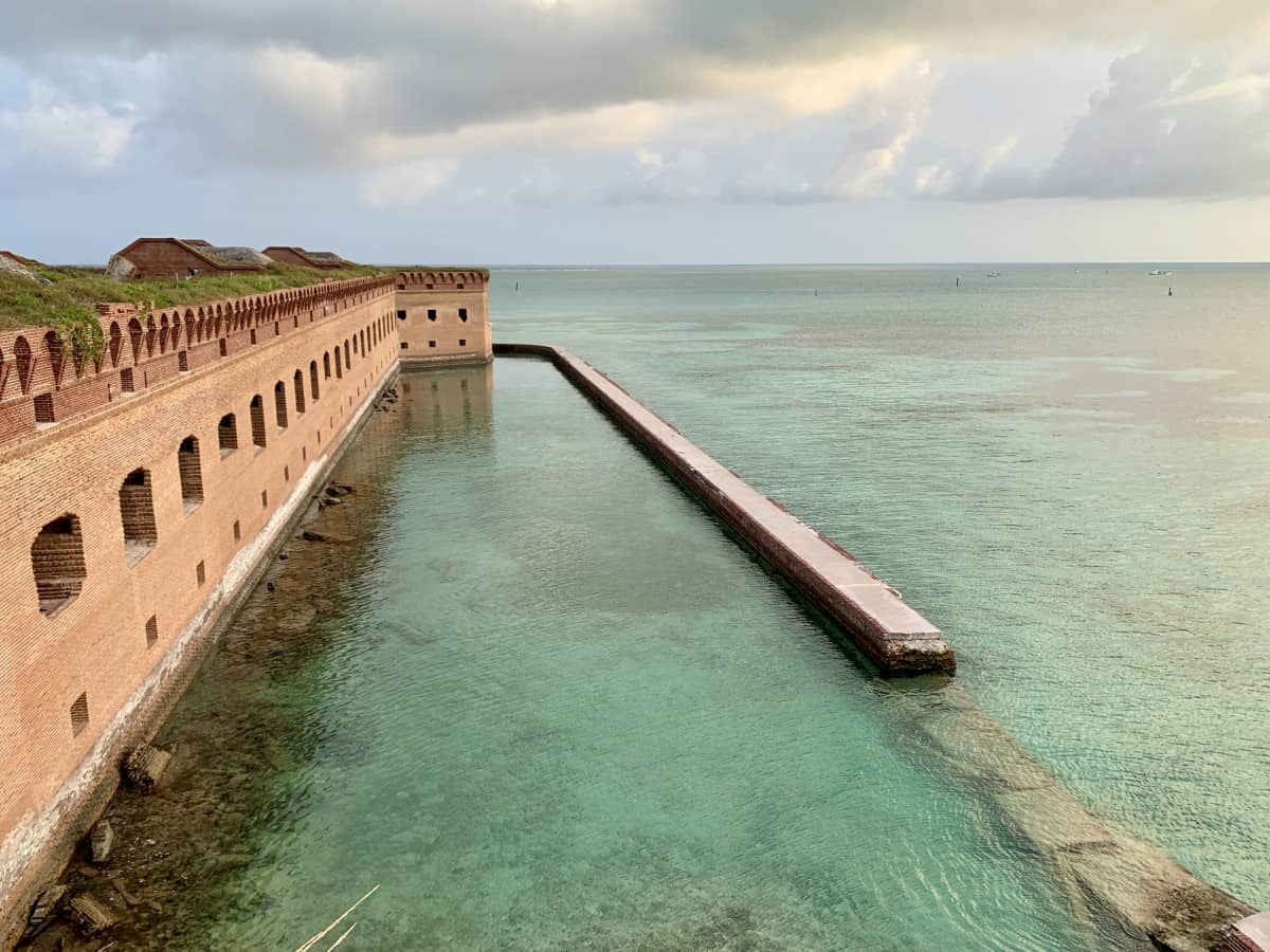 I had Fort Jefferson all to myself for sunset because I'd chartered the boat instead of day tripped