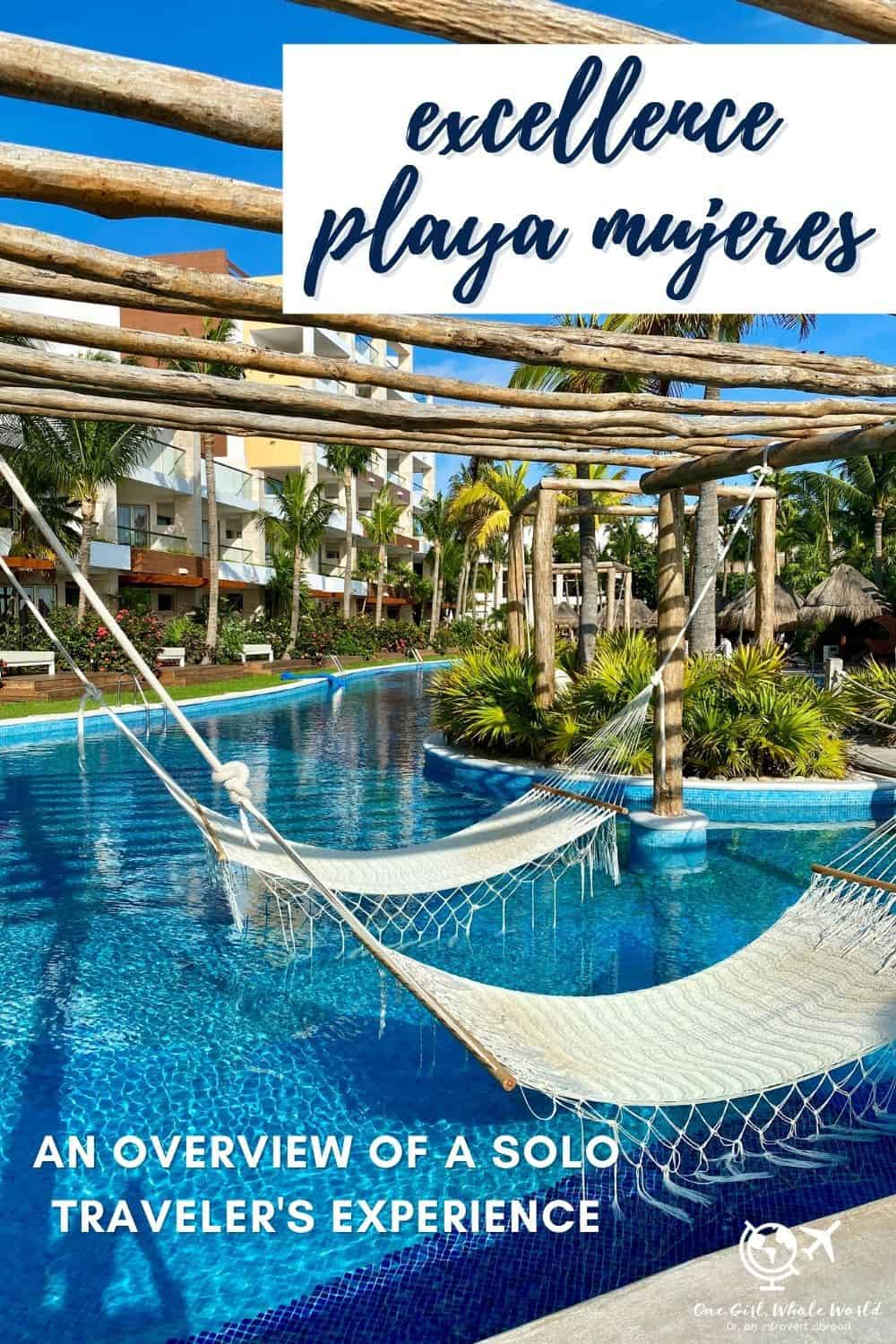 My Experience at Cancun's Excellence Playa Mujeres | If you're planning a trip to Cancun, Mexico, then Excellence should be on your short list. This post provides an overview of my experience at EPM in general (and as a solo traveler), whether it's worth it, and to help you decide if it's the right place for you. Cancun all-inclusive resorts, luxury resorts in Cancun #mexico #cancun #playamujeres #excellenceresorts #allinclusive