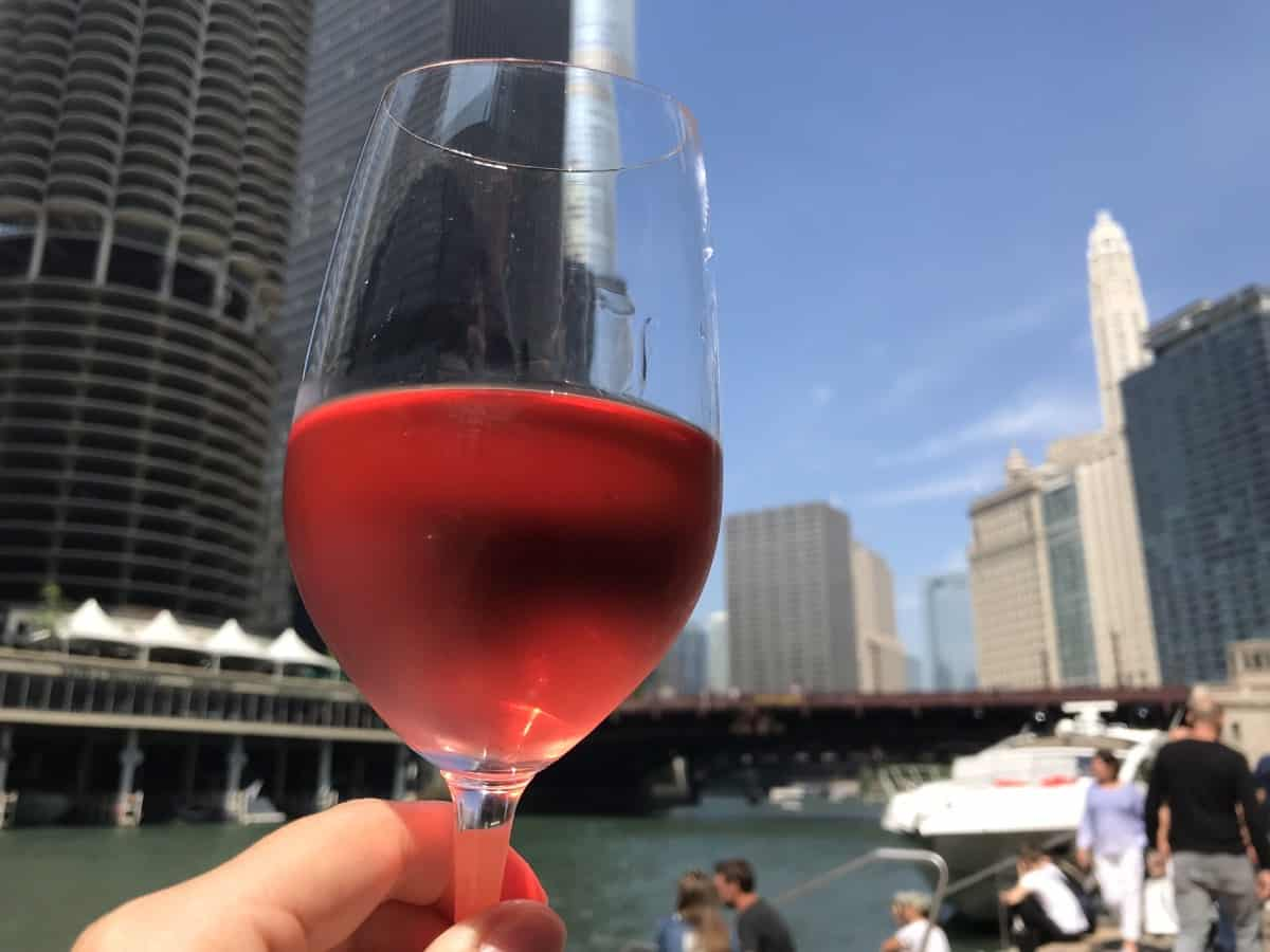 Things to do in Chicago for first-timers - spend time on the Riverwalk & stop for a glass of wine
