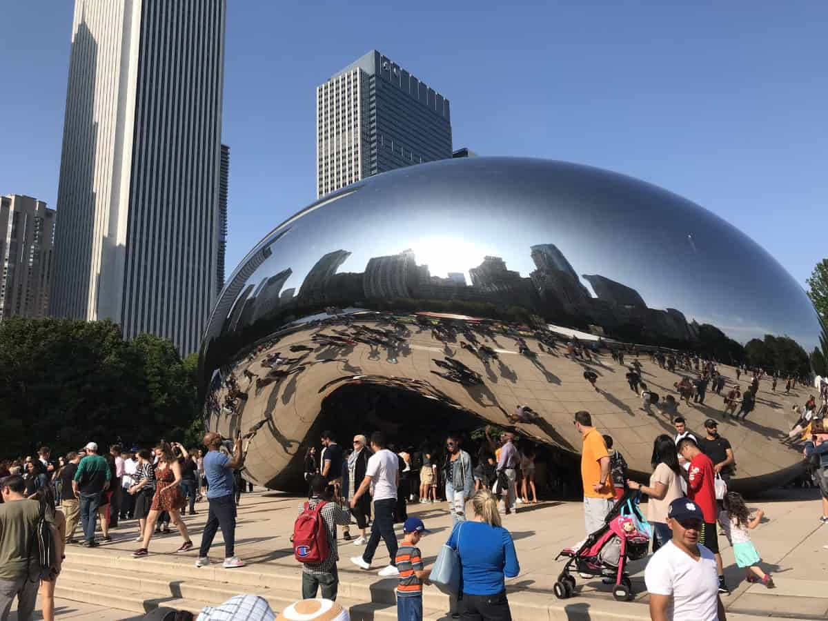 Things to do in Chicago for first-timers - you can't miss the Bean in Millennium Park