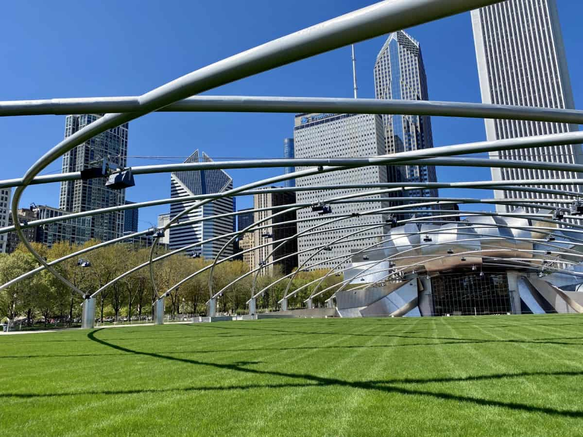 Things to do in Chicago - explore Pritzker Pavilion & the other parks connected to Millennium Park