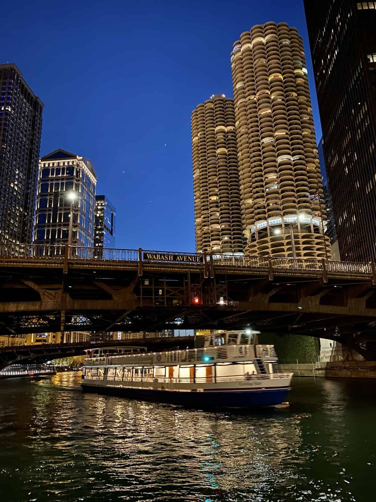Things to do in Chicago - explore the city at night, including the Riverwalk