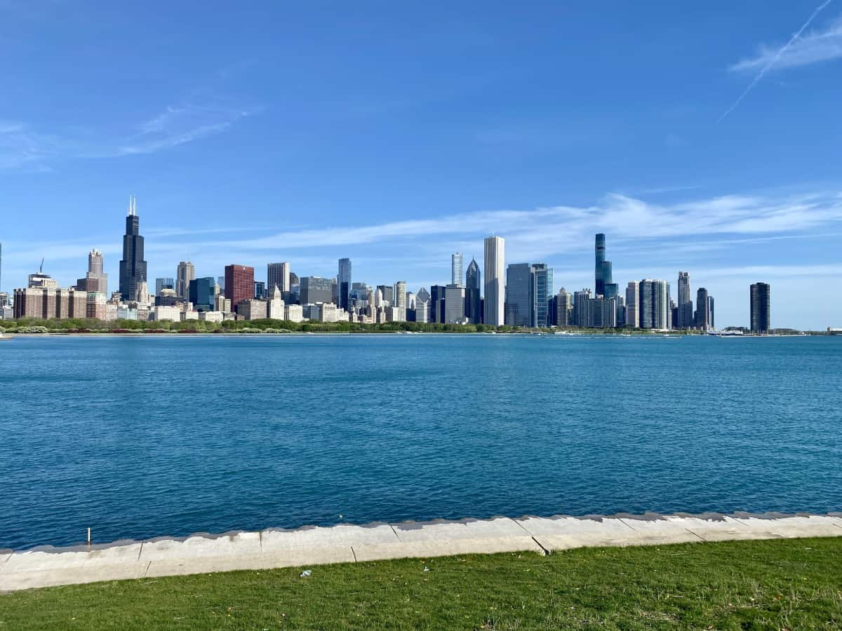 What to do in Chicago - the Adler Planetarium offers the iconic Chicago skyline view