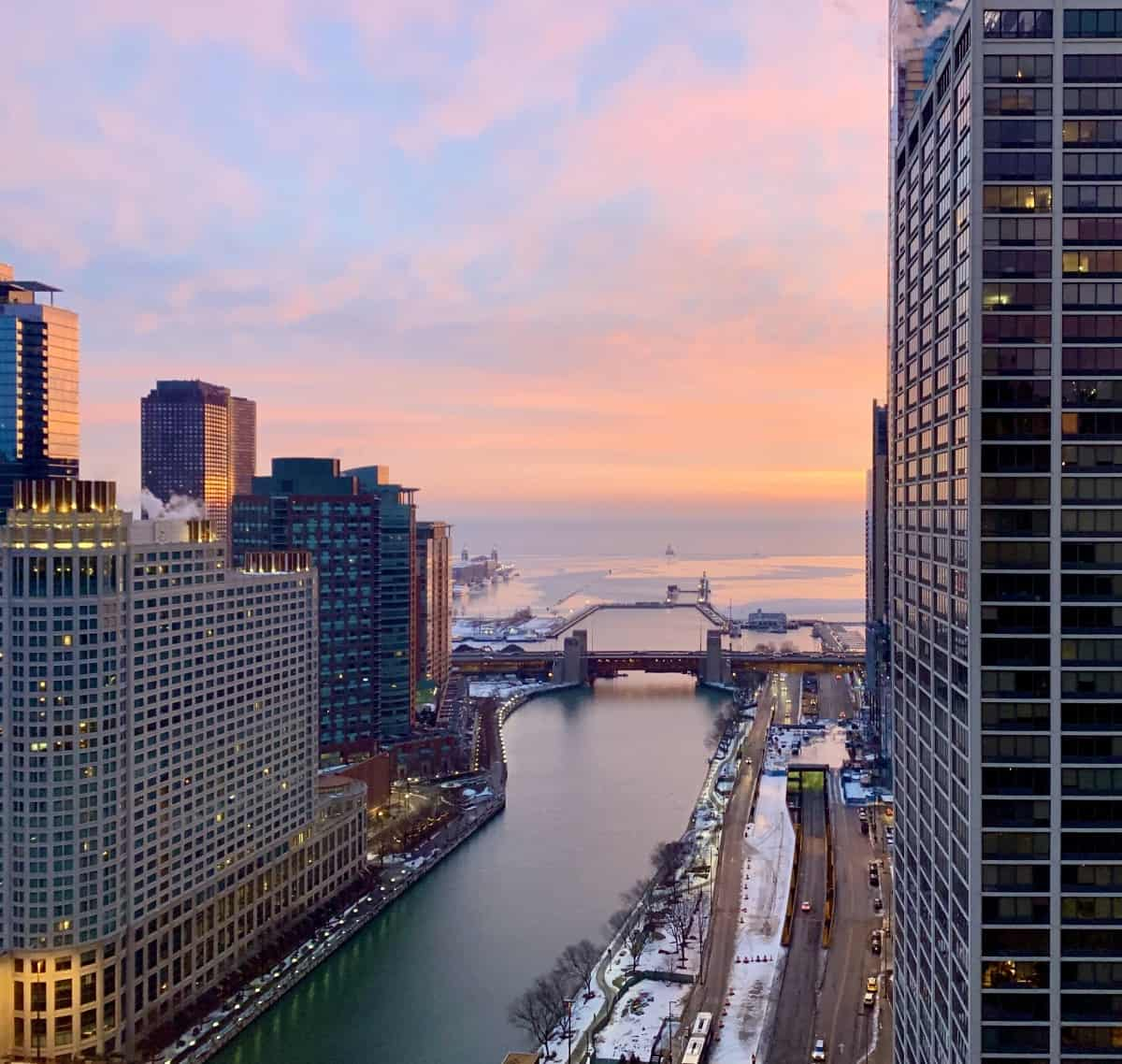Things to do in Chicago for first-timers - sunrise on the lakefront is amazing