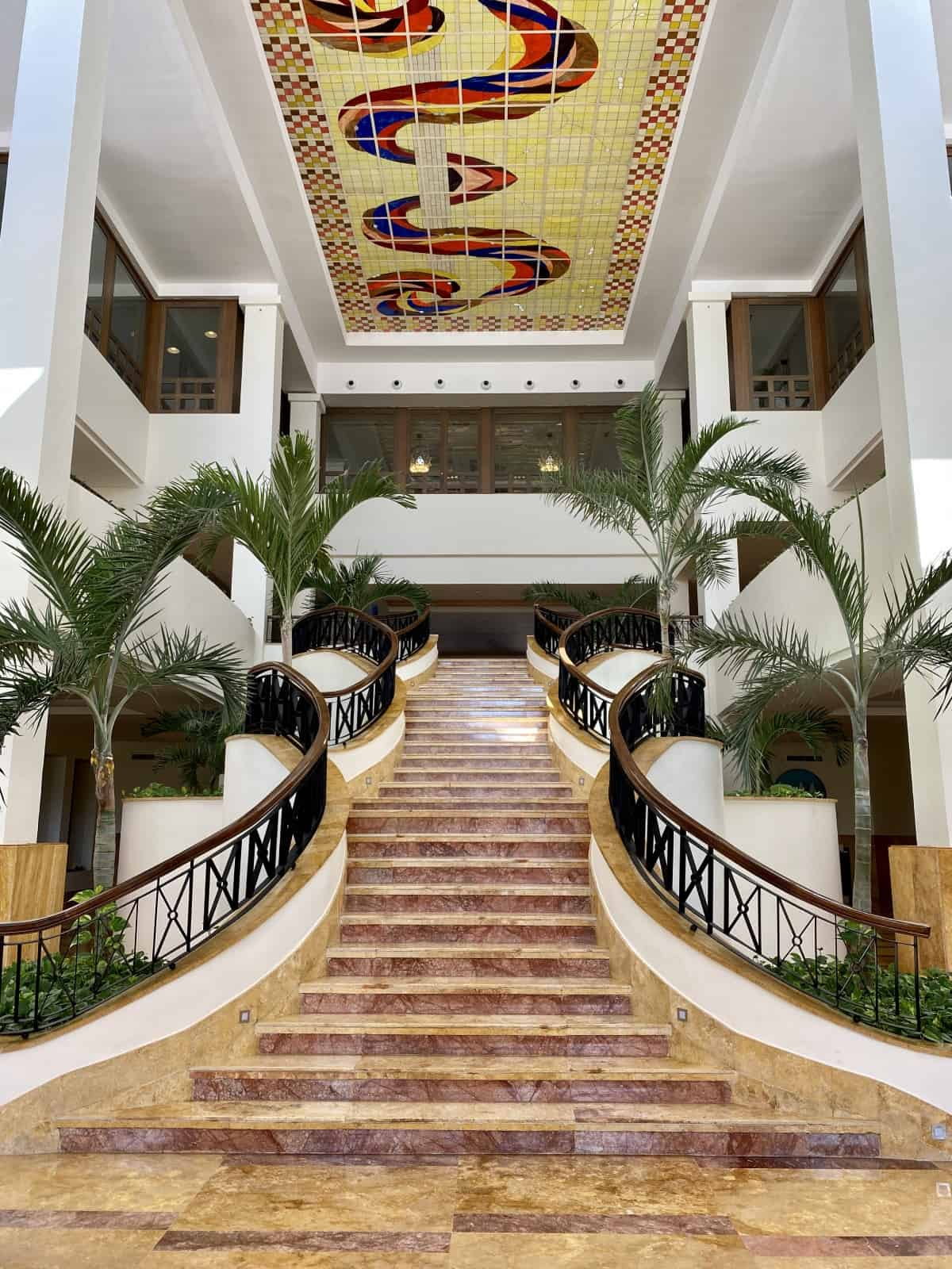 The beautiful main hall of Excellence Playa Mujeres