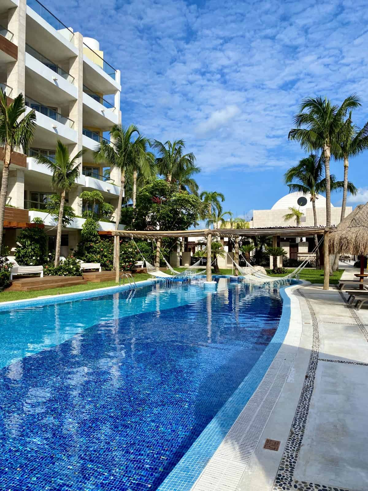 Gorgeous pools and hammocks at Excellence Playa Mujeres