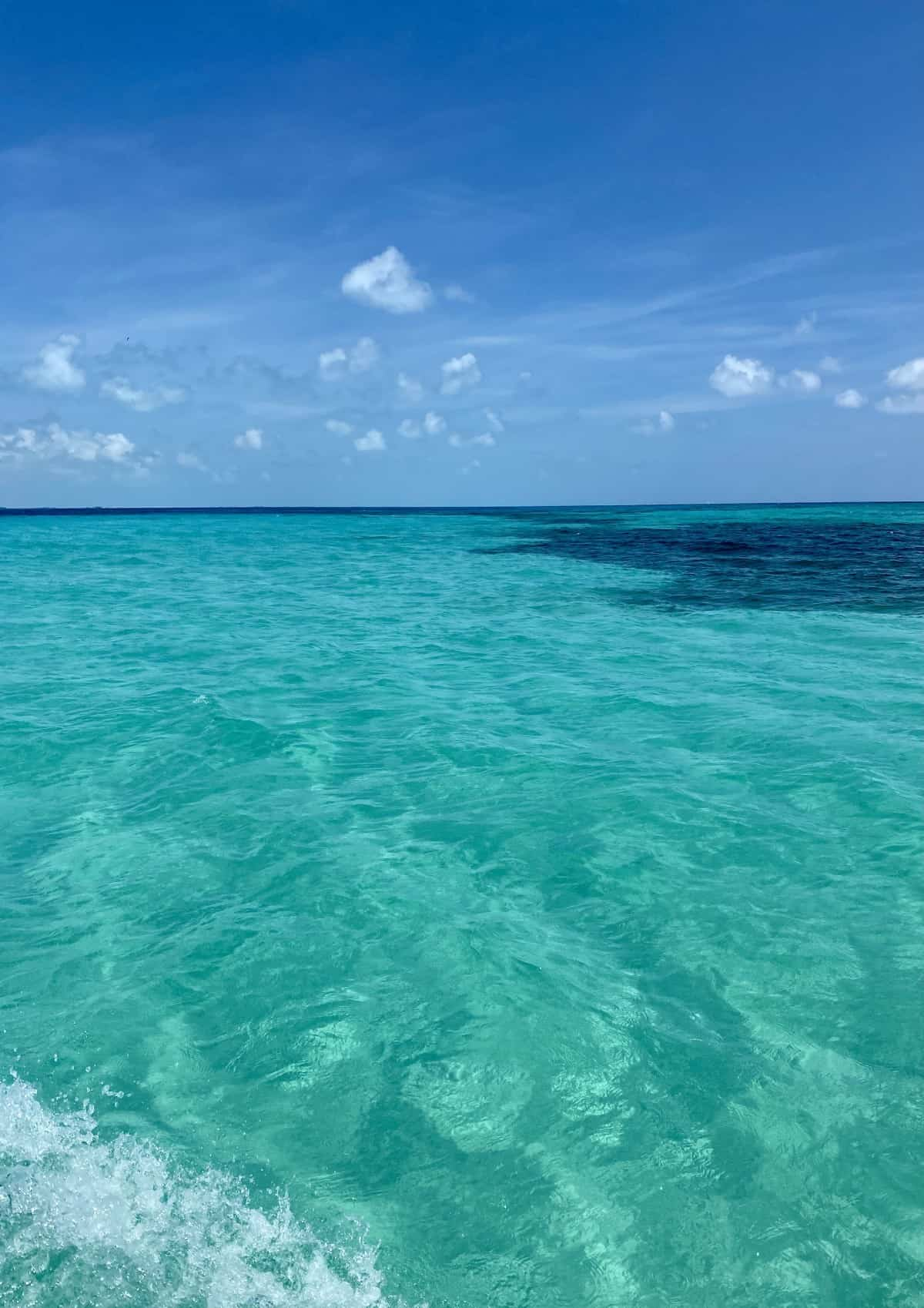 The stunning waters off Isla Mujeres...an overview of my trip to Excellence Playa Mujeres