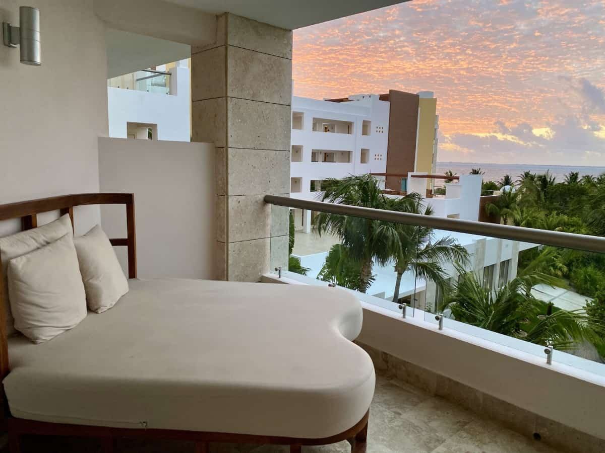 I loved sunrise from my balcony - a detailed Excellence Playa Mujeres review