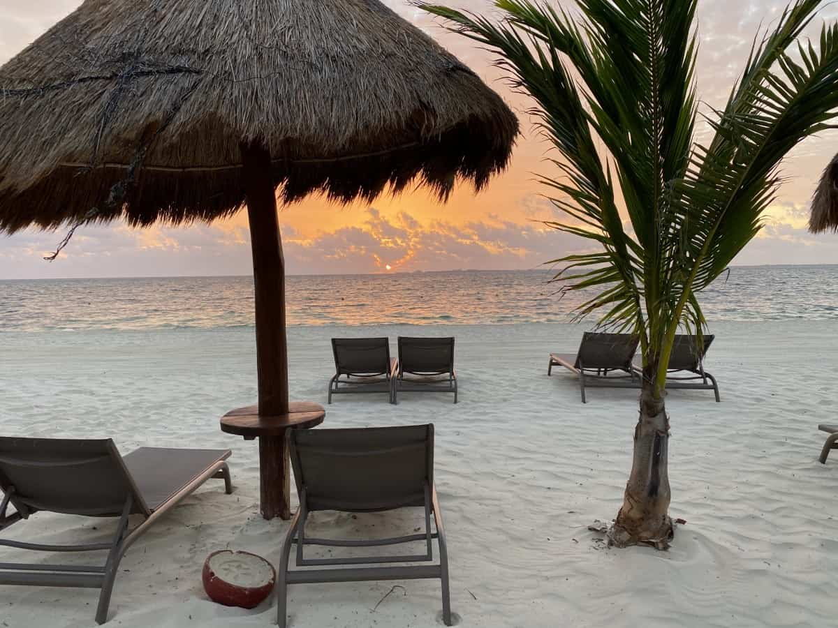 Sunrise on the beach - a detailed Excellence Playa Mujeres review