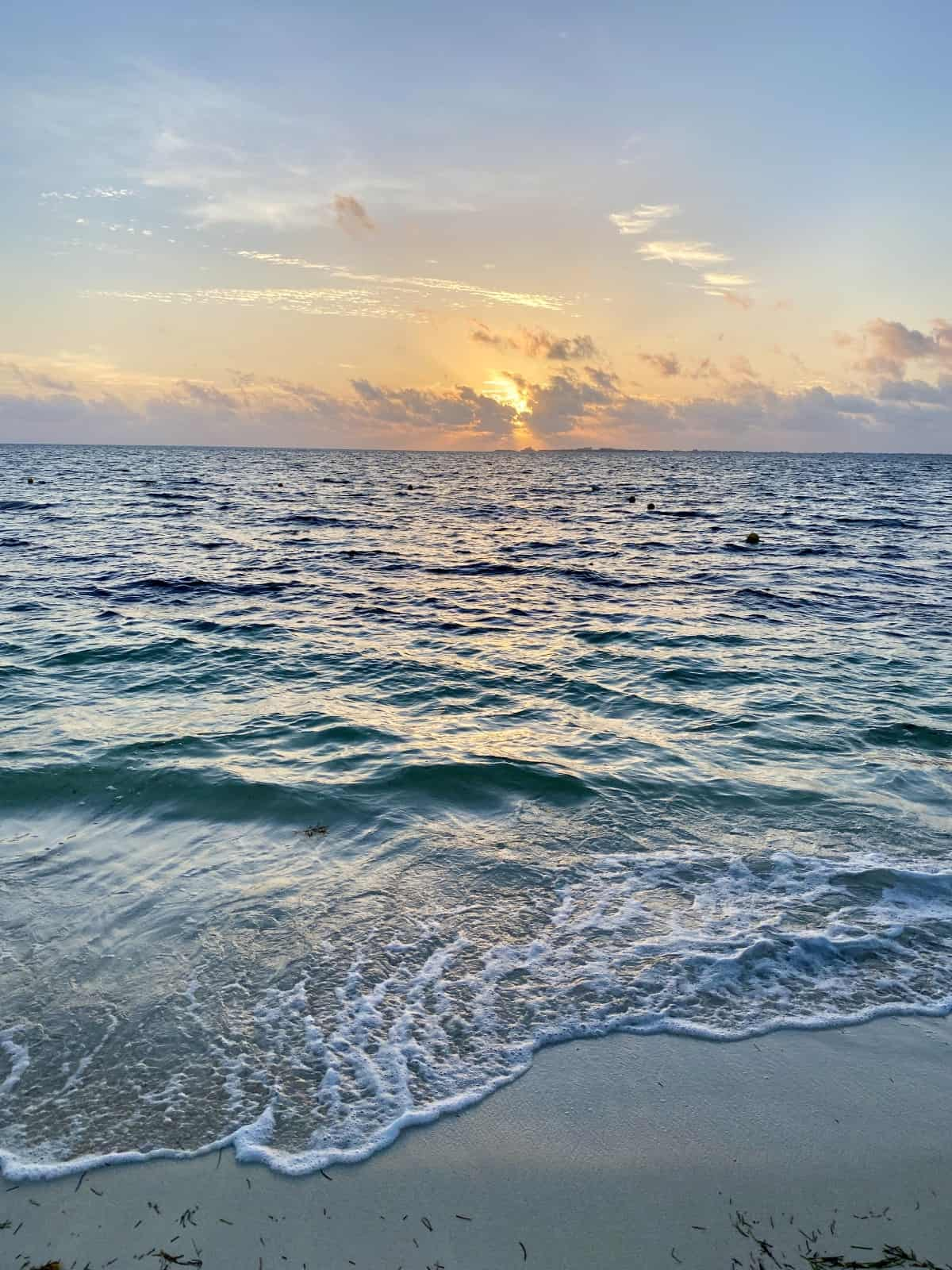Sunrise over the beach at EPM - a detailed review of Excellence Playa Mujeres
