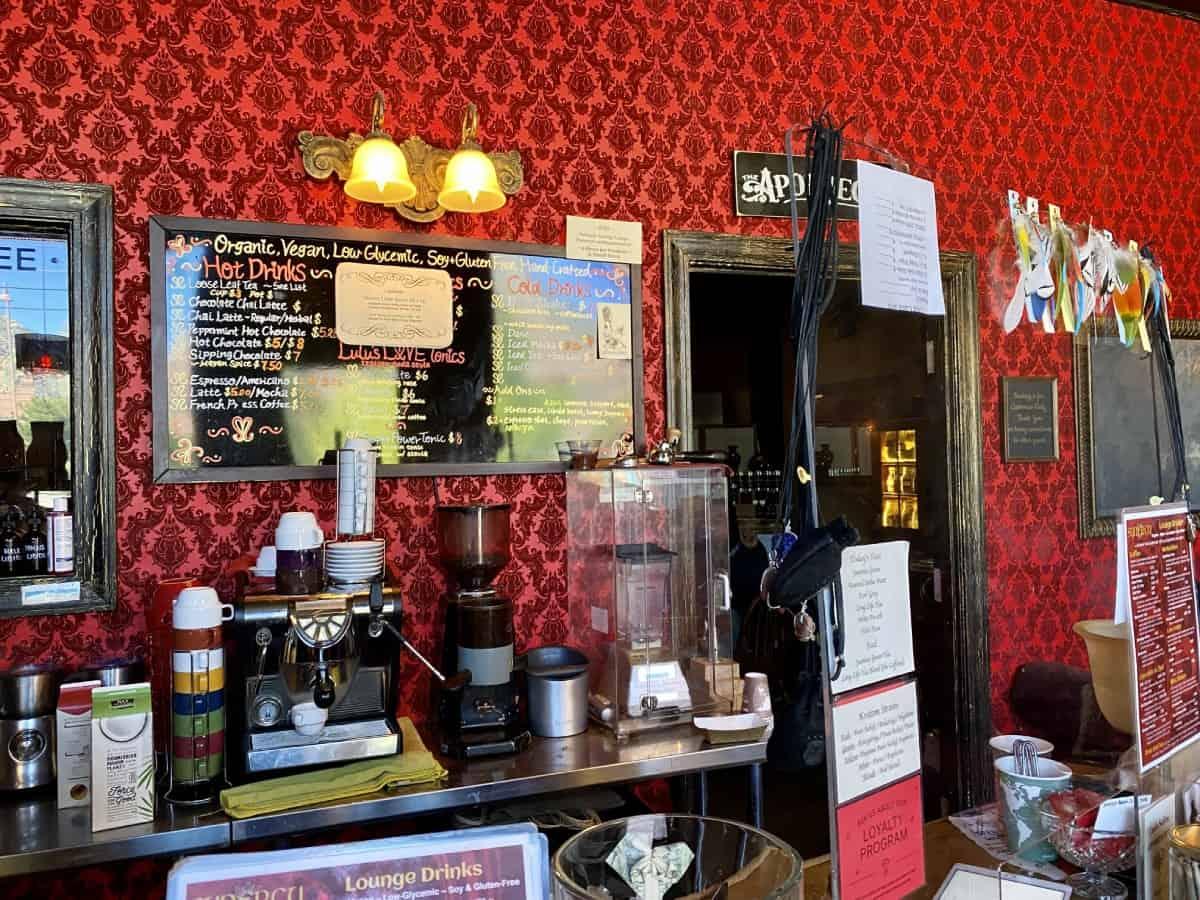 "Best restaurants in Sedona - Synergy is an adorable coffee shop & ""elixir bar"""