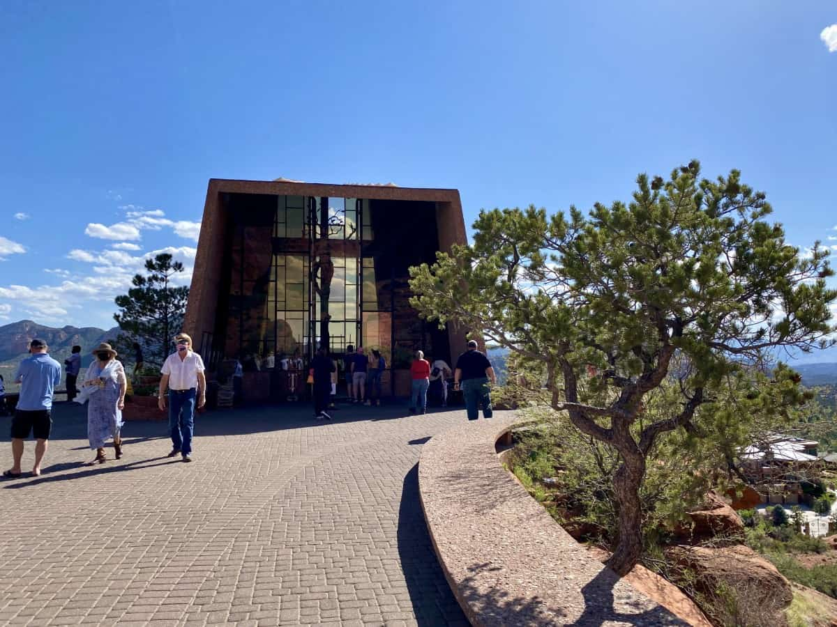 The view at the top - Chapel of the Holy Cross in Sedona, Arizona