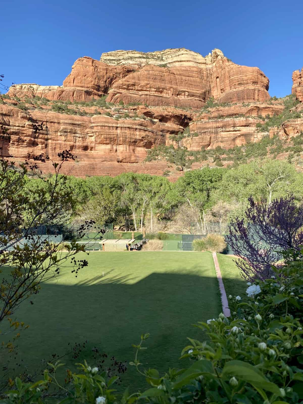 Sedona's Enchantment Resort review - there are tons of activity options, including croquet, pickle ball, bocce, and tennis
