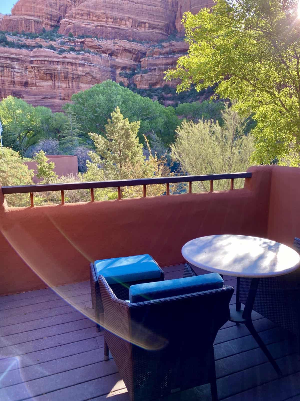 Sedona's Enchantment Resort review - I enjoyed the little private patio in my casita