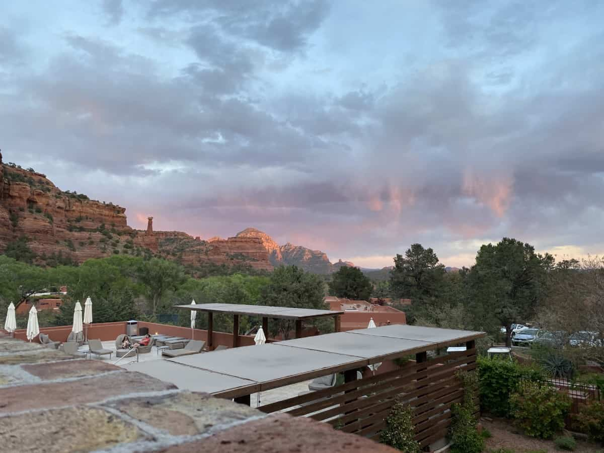 Sedona's Enchantment Resort review - since most things on the resort face east, there isn't much of a sunset view