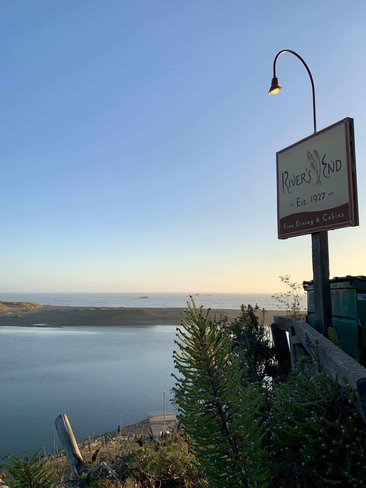 A lovely dinner at River's End is one of the best things to do on the Sonoma Coast, California - where to eat in Sonoma Coast