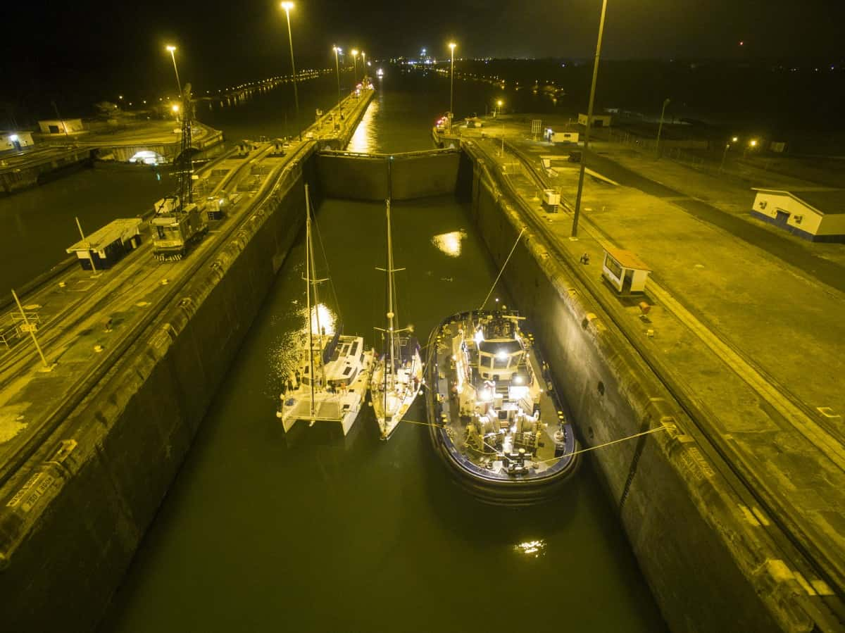 Liz Alden photo from her sailboat's crossing of the Panama Canal