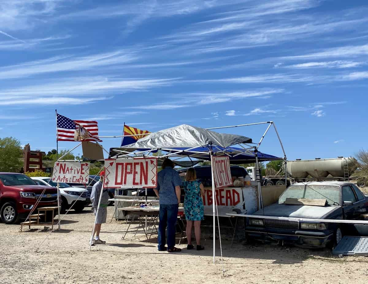This local Navajo frybread stand near Montezuma Castle National Monument is a perfect snack