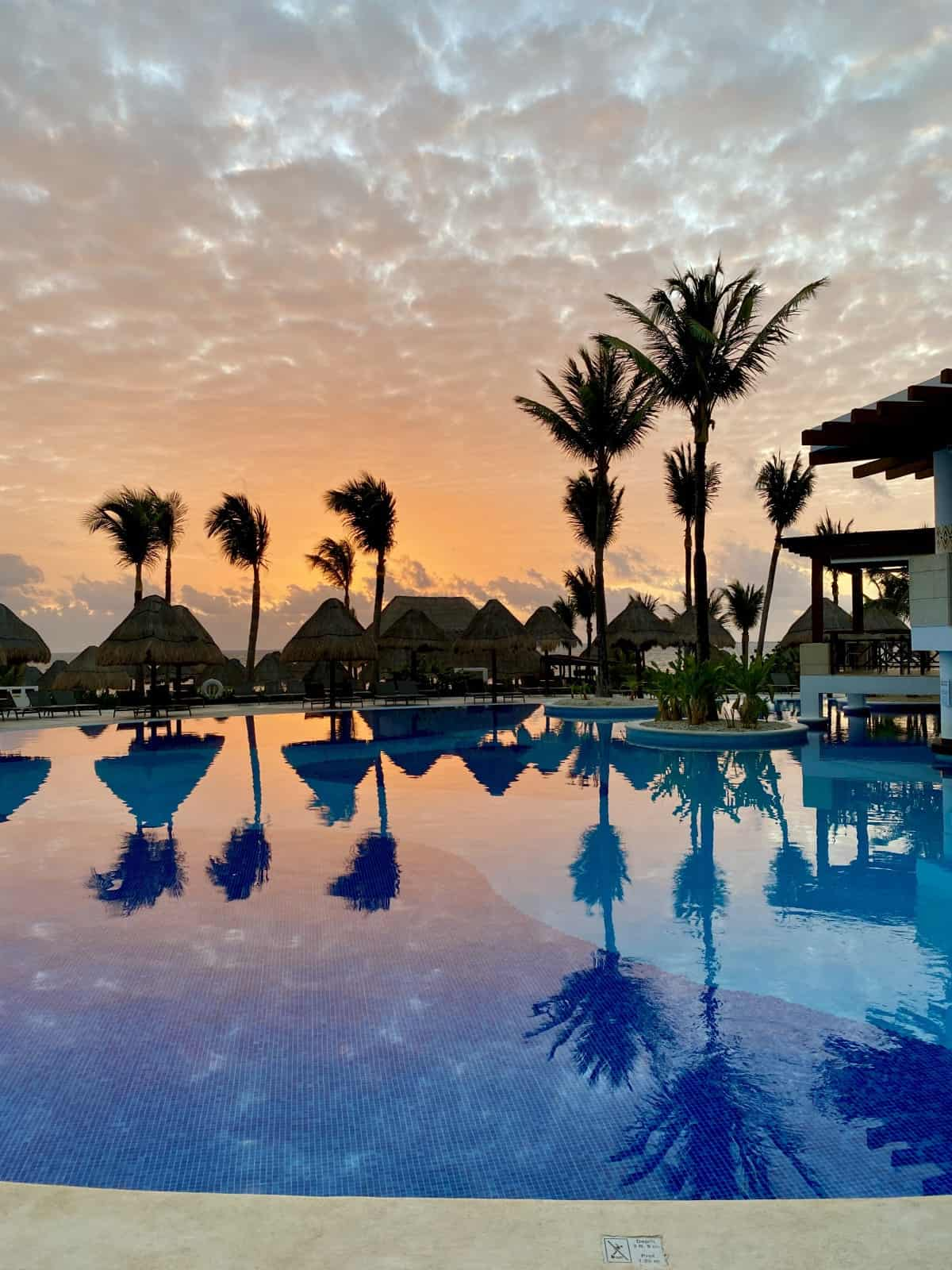 Detailed review of LeBlanc Cancun vs. Excellence Playa Mujeres - sunrise at EPM